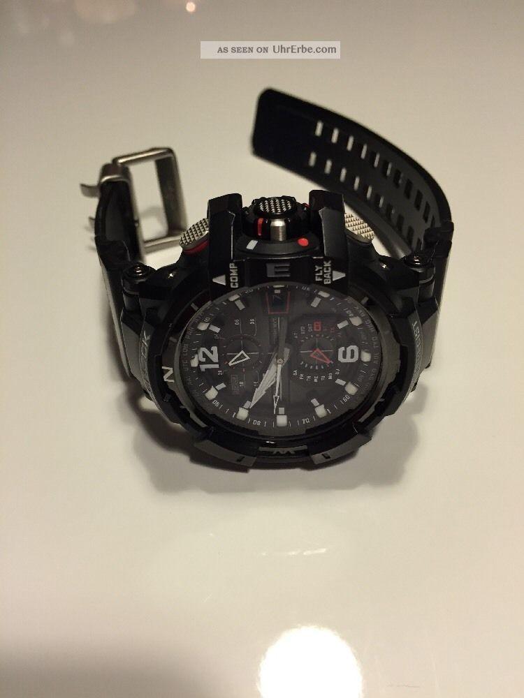 Casio Premium G Shock Gw - A1100 - 1aer Pilot Ovp Rechnung Armbanduhren Bild