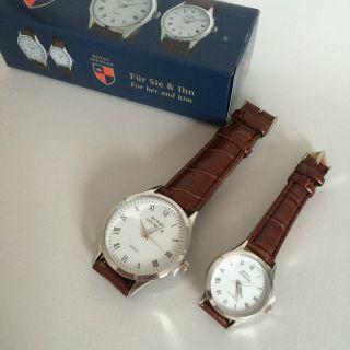 Royal Spencer Elegante Armbanduhr Partneruhr Für Sie & Ihn Krokoleder - Look Bild