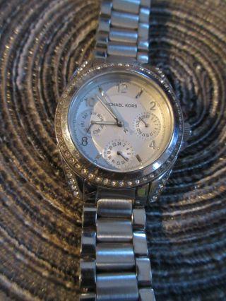 Michael Kors Mk5612 Chronograph Damenuhr Silber Edelstahl Zirkonia Uhr Damen Bild