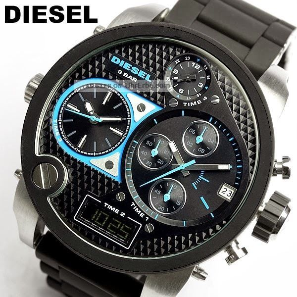 diesel herren uhr chronograph datum schwarz silber. Black Bedroom Furniture Sets. Home Design Ideas