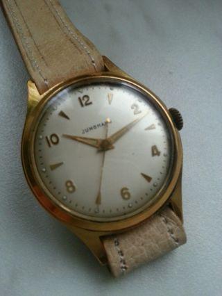 Alte Junghans Handaufzug Uhr - Kal.  93/1 Bild