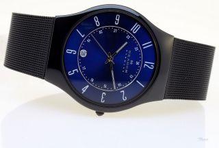 Skagen Uhr Flache Herren Titanium Uhr T233xltmn Datum 3 Bar Gents Watch 7,  5mm Bild