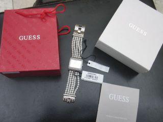 Guess Damen Uhr G95334l Perlenarmband Rarität Damenuhr Silber Armbanduhr Bild