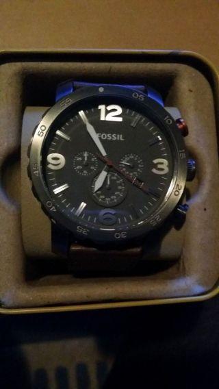 Fossil Nate Jr1419 Armbanduhr Für Herren Bild