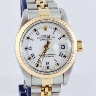 Rolex Lady Datejust Steel Gold Ref 69173 Automatic 26mm Römisches Zifferblatt Bild