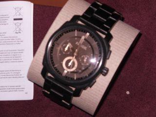 Sportlich Fossil Machine Armbanduhr Für Herren (fs4682) Uhr Schwarz Chic Bild