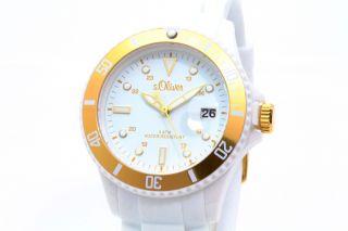 S.  Oliver Uhr Unisex Damen Weiß/goldfarbig So - 2735 - Pq Bild
