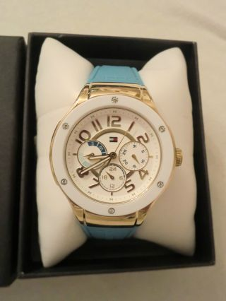 Tommy Hilfiger Armbanduhr,  Blau,  Gold Bild