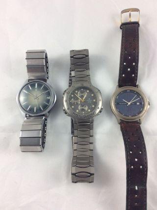 Junghans Konvolut 3 Uhren Titan Chrono,  Solar 1 Und 66720 Bild