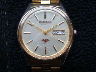 Herren - Armbanduhr Citizen Automatic Seven Eagle 4 - 063562 Rc Gold Selten Bild
