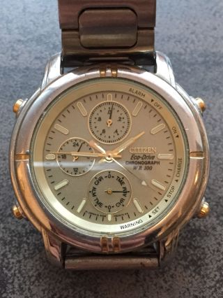 Citizen Eco - Drive Chronograph Wr 100 Gold Silber Farbig Bild