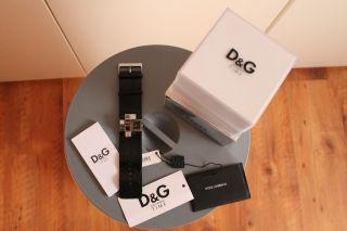 Dolce & Gabbana (d&g) Dw0174 Damen Uhr Mit Schwarzem Lederband Und Steinen Top Bild