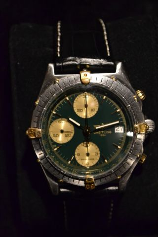 Breitling Windrider Chronomat Ref.  81950 MoosgrÜn Stahl/gold Bild