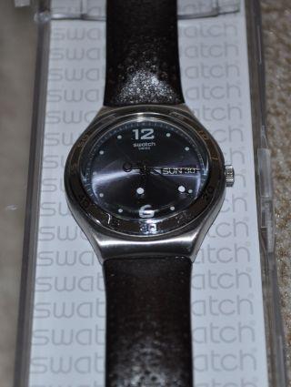 Swatch Irony Big Cowboy Boots Armbanduhr Uhr Leder Braun (ygs762) Ovp Bild