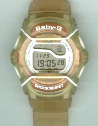 Damenuhr Casio Baby - G Digital Orange KunststoffgehÄuse,  Armband Herren Uhr Top Bild