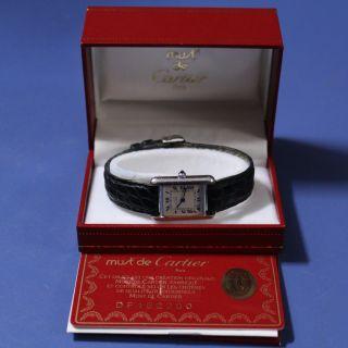 Damenuhr Cartier Tank 925 Silber Bild