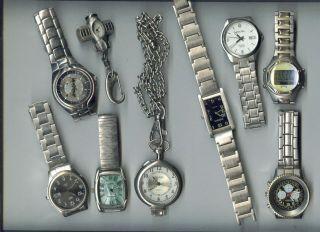 44 X Konvolut Herrenuhr Herren Uhren Armband Verschieden Leder Edelstahl Usw Gut Bild