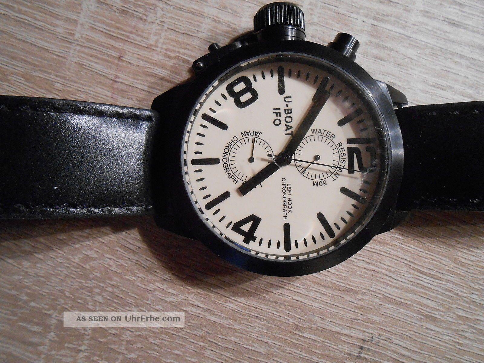 U - Boat Ifo Left Hook Chronograph A48 - Bk - C Italo Fontana Special Edition Nr.  250 Armbanduhren Bild
