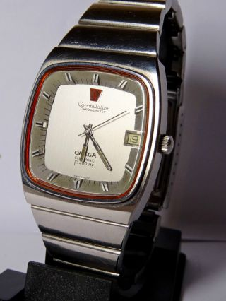 Herrenuhr Vintage Omega Constellation Chronometer Day F300hz Bicolor Stimmgabel Bild