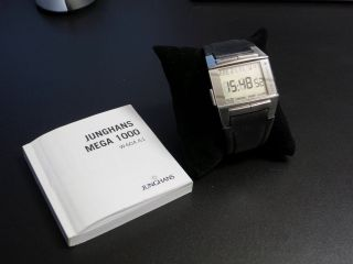Junghans Funkuhr Mega 1000 26/4500 Quadband Radio Controlled Watch Lederarmband Bild