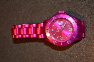 Ice - Watch Ice - Metal Ice - Alu Armbanduhr Pink Für Unisex Bild
