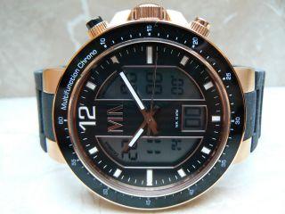 Meister Anker Chronograph Taucheruhr 10 Atm Herrenuhr Edelstahlgehäuse Uhr Bild