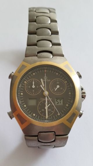 Omega Seamaster Chronograph 1/100 Titan/gold 18 Karat Herren Armbanduhr Bild