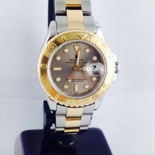 Rolex Lady Yachtmaster Ref 169623 29mm Steel Gold A Serie Automatic Rolex Box Bild