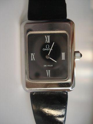 Sehr Schöne Klassiche Omega De Ville Damenuhr - Handaufzug - Ungetragen - Schwarz Bild