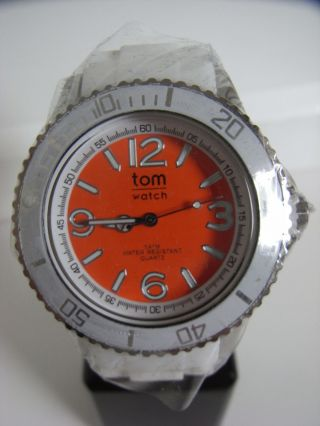 Tomwatch Basic White 44 Wa 00118 Mand.  Orange Uvp 49,  90€ Bild
