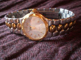 Seltene Longines Conquest Armbanduhr M.  Datumsanzeige Gold/edelstahl -