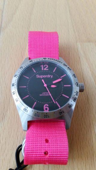 Superdry Damenuhr Field Syl 121 P Pink Bild