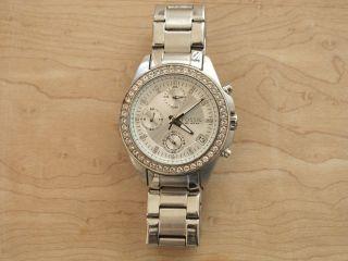 Top Damen - Uhr Von Fossil Mit Steinchen Damen Stainless Steel Stahl Chronograph Bild