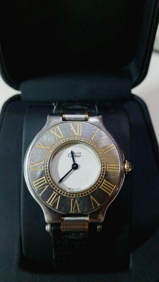 Cartier Armbanduhr Für Damen; Must De Cartier 21 Swiss Made Bild