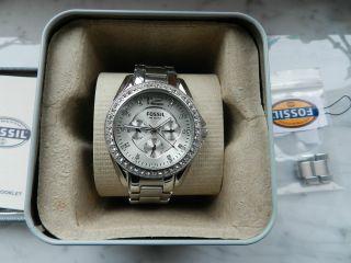 Fossil Uhr Riley,  Es2203,  Edelstahl,  Silber Top Bild