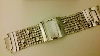 Dkny Damenuhr Ny4661 Silber Zirkonia Uhr Glitzer Weinachten Silvester Mk Bild