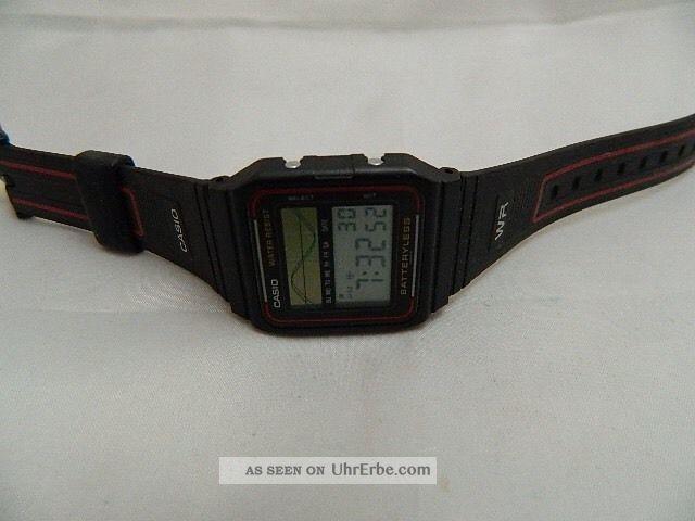 Casio Digital Uhr Mit Solar Ohne Batterie Neuwertig Armbanduhren Bild
