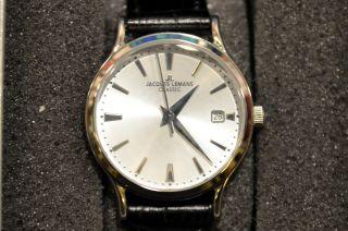 Jacques Lemans 1935 Damen Armbanduhr 1 - 1565 Edelstahl Lederarmband Bild