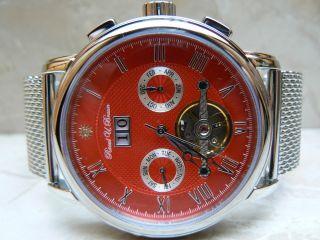 Raoul U.  Braun Rub05 - 0188 Automatikuhr Chronograph Rotes Zifferblatt Edelstahl Bild