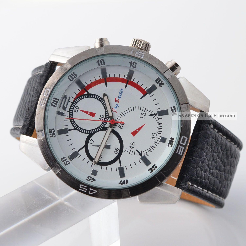 Jay Baxter Uhr Und Mit Originalverpackung Aus Lagerverkauf Herrenuhr S / W Armbanduhren Bild