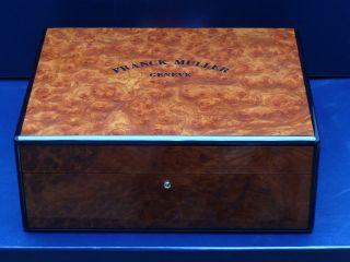 Franck Muller Xxxl Uhrenbox Etui Uhren Box Watchbox Watch - Box Holz Bild
