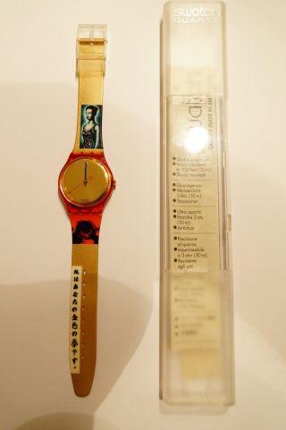 `swatch Kimiko´ Retro Sammler Uhr `neu Und Unbenutzt` Produktnummer Gr123 Bild