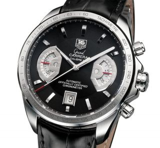 Tag Heuer Grand Carrera Chronograph Herrenuhr Cav511a.  Fc6225 Ovp Men ' S Watch Bild