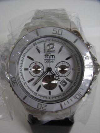 Tomwatch Chrono Steel 44 Wa 0131 Weiß Gl.  Produktion Wie Kyboe Uvp 149€ Bild
