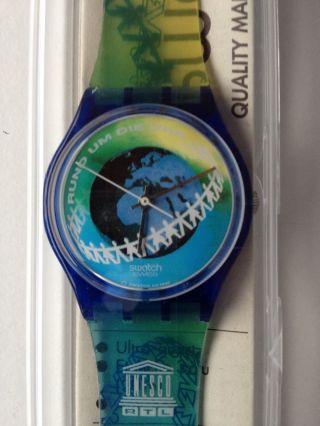Swatch Rtl Unesco Sammleruhr Grün Blau In Ovp Bild