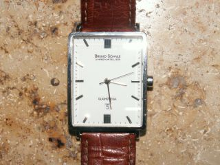 Herren Armbanduhr Rechteckig Silber Von Bruno Söhnle Glashütte Bild