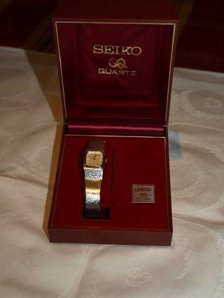 Elegante Damenarmbanduhr Von Seiko Mit Weißgoldauflage Bild