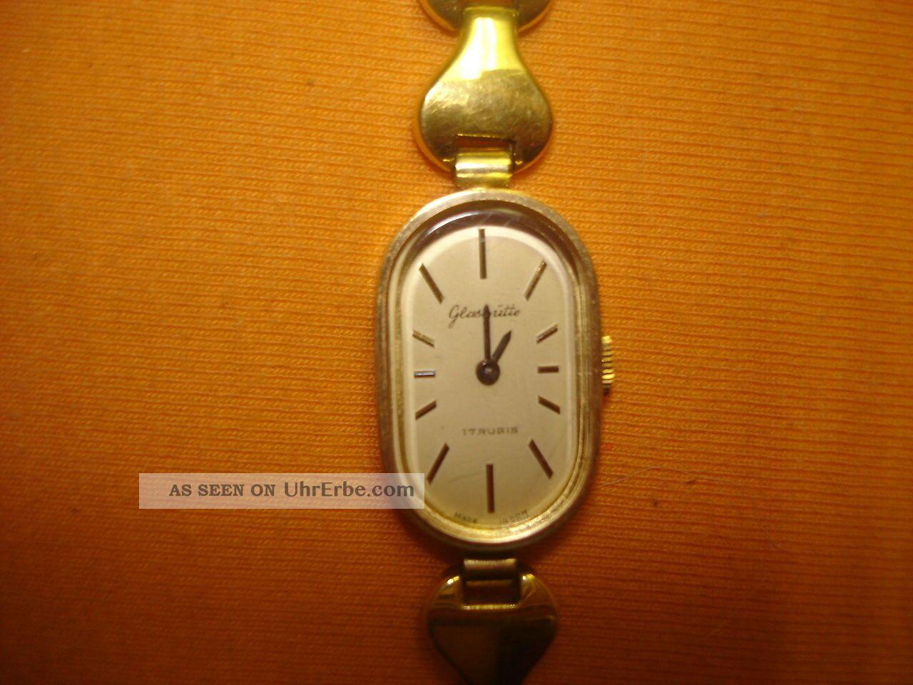 Glashütte Damenuhr Gold Gdr Armbanduhren Bild