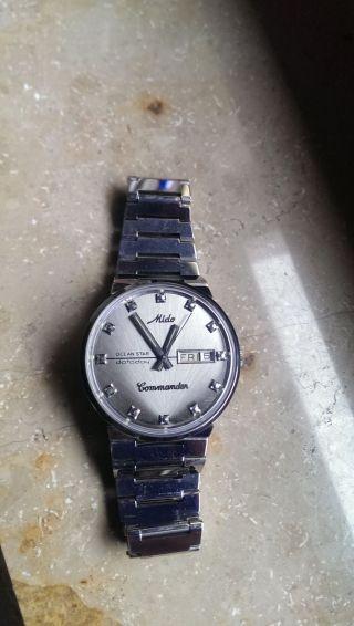 2 X Mido Automatic Uhren 70 Er 80 Er Jahre Oceanstar Dataday Und Commander Bild