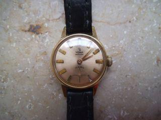 Handaufzug Vergoldete Damen Armbanduhr Yema Bild